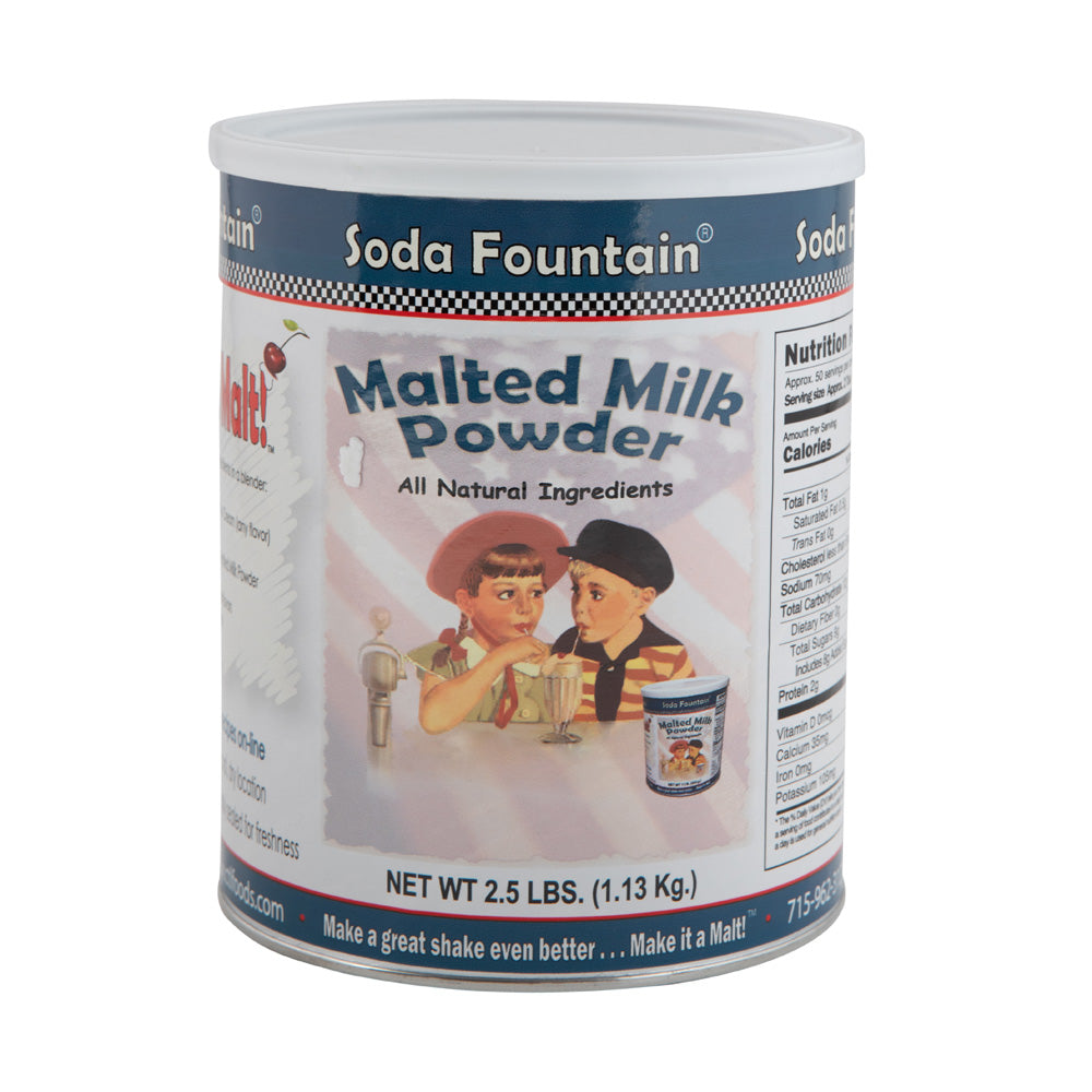 Soda Fountain Milkshake Malted Milk Powder - 2.5 lb Resealable Tub