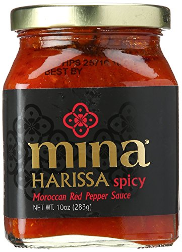 Mina Harissa Spicy Traditional Moroccan Red Pepper Sauce, 10 oz