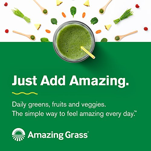 Amazing Grass Green Superfood Organic Powder with Wheat Grass and Greens, Flavor: Original, 30 Servings - Snazzy Gourmet