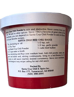 Santa Cruz Mild Chili Powder/Chile Colorado Mild Santa Cruz, 1/2 lb - Snazzy Gourmet