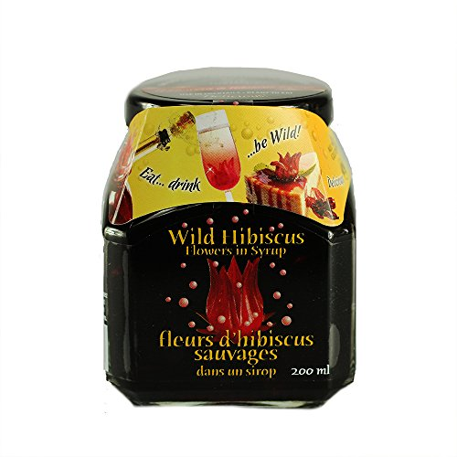 Wild Hibiscus Flowers in Syrup - 200 grams (7 ounces) - Snazzy Gourmet