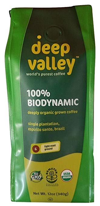 Deep Valley Certified Biodynamic Organic Ground Coffee, Light Roast, 12 oz - Snazzy Gourmet