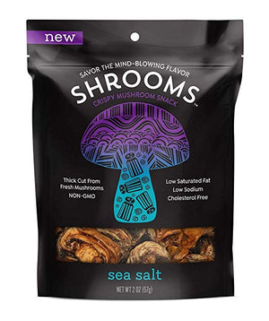 Shrooms Mushroom Crisps, 2 oz Bag - Sea Salt - Snazzy Gourmet