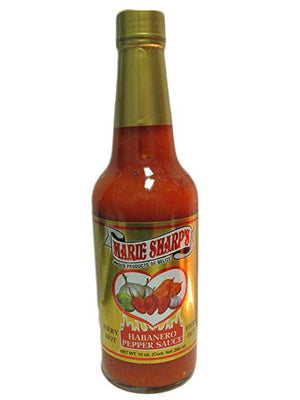 Marie Sharp's Fiery Hot Sauce, Habanero Pepper, 10 oz - Snazzy Gourmet