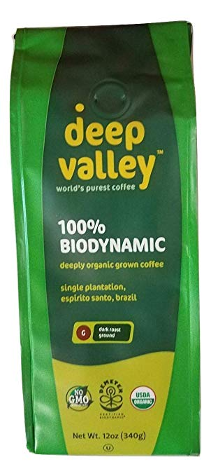 Deep Valley Certified Biodynamic Organic Ground Coffee, Dark Roast, 12 oz - Snazzy Gourmet