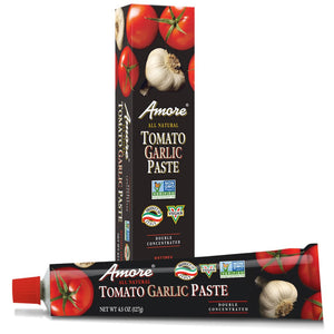 Amore Tomato Garlic Paste, 4.5 Ounce Tube - Snazzy Gourmet