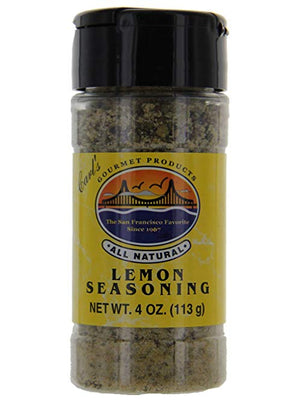 Carl's Gourmet All Natural Lemon Seasoning and Meat Rub - 4 oz - Snazzy Gourmet