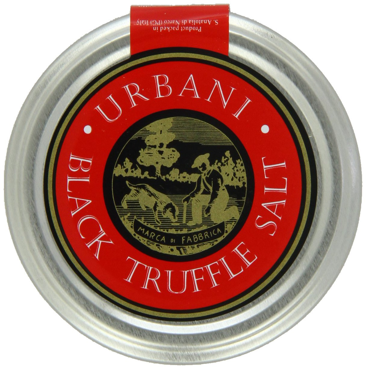 Italian Black Truffle Salt With Real Truffle Flakes - 3.5 Ounce - By Urbani Truffles