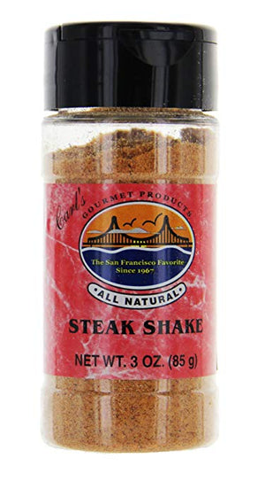 Carl's Gourmet All Natural Steak Shake Seasoning and Meat Rub - 3 oz - Snazzy Gourmet