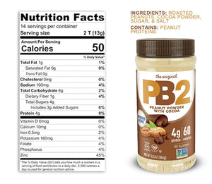 PB2 Powdered Peanut Butter With Cocoa, 6.5 oz - Snazzy Gourmet