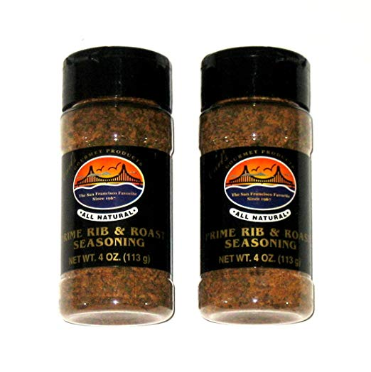 Carl's Gourmet All Natural Prime Rib & Roast Seasoning - 4 Oz (2-Pack) - Snazzy Gourmet