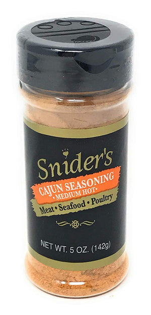 Snider's Cajun Seasoning (Medium-Hot), 5 oz