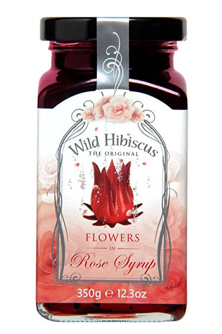 Wild Hibiscus Flowers in Rose Syrup - Snazzy Gourmet