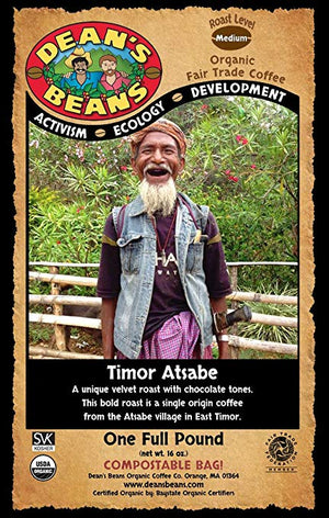 Dean's Beans Organic Coffee - Timor Atsabe - Snazzy Gourmet