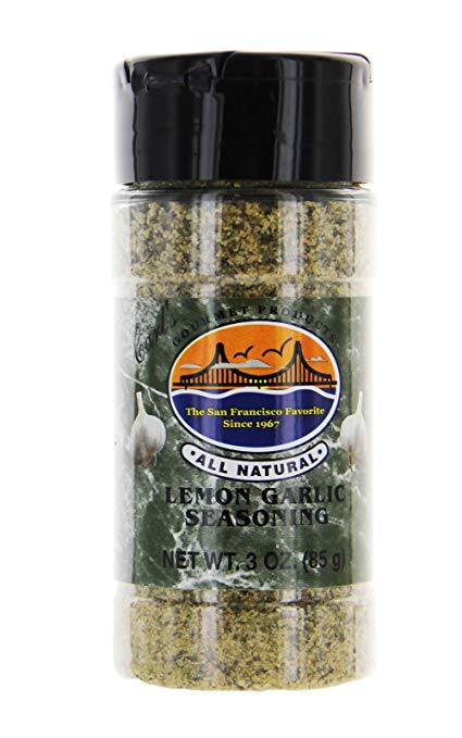 Carl's Gourmet All Natural Lemon Garlic Seasoning and Meat Rub - 3 oz - Snazzy Gourmet