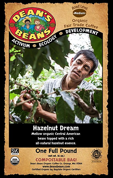 Dean's Beans Organic Coffee - Hazelnut Dream
