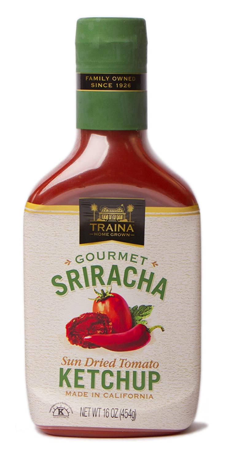 Traina Home Grown Gourmet Sriracha Ketchup, 16 oz