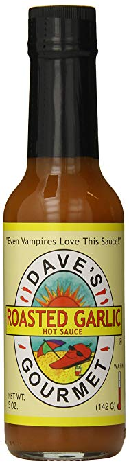 Dave's Gourmet Hot Sauce, Roasted Garlic, 5 oz - Snazzy Gourmet