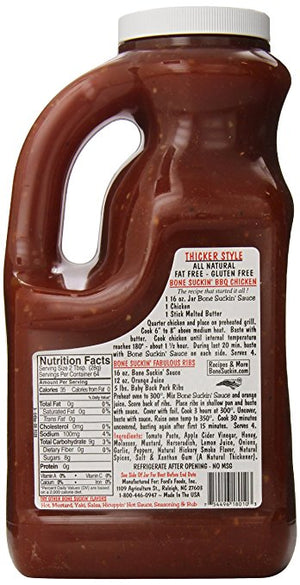 Bone Suckin' Sauce® BBQ Sauce, Thicker Style, Regular, 78 oz. - Snazzy Gourmet
