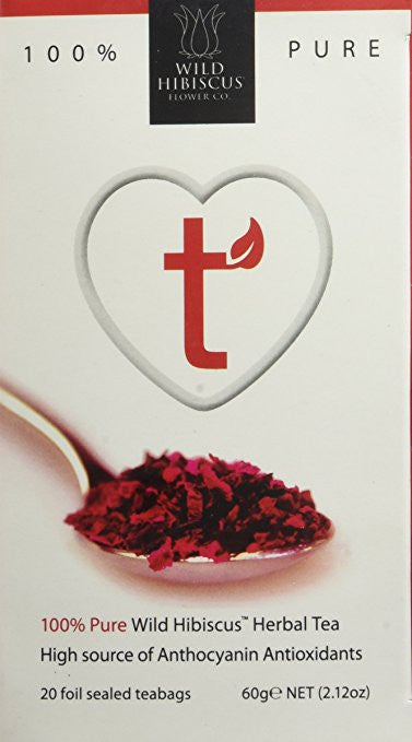 Wild Hibiscus Heart-Tee Hibiscus Herbal Tea 20ct - Snazzy Gourmet