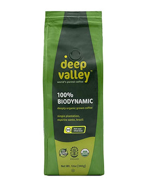 Deep Valley Certified BioDynamic Coffee Whole Bean, Dark Roast, 12 oz - Snazzy Gourmet