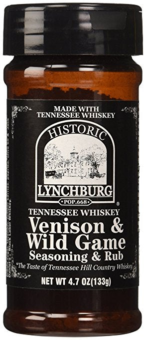 Historic Lynchburg Tennessee Whiskey Venison & Wild Game Seasoning, 4.7oz - Snazzy Gourmet