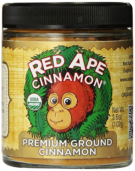 Red Ape Cinnamon Premium Ground Cinnamon, 3.6 Ounce Jar - Snazzy Gourmet