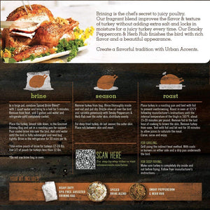 Urban Accents Gourmet Gobbler Turkey Brine and Rub Kit - Snazzy Gourmet