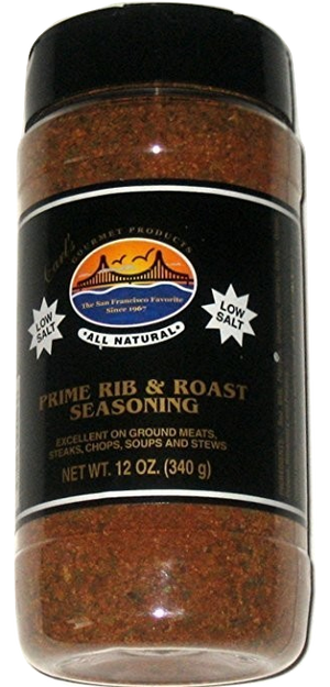 Carl's Gourmet All Natural Prime Rib & Roast LOW SALT Seasoning - 12 oz - Snazzy Gourmet