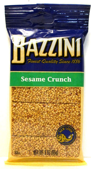 Bazzini Sesame Seed Crunch Bar, 3 oz Bags - Snazzy Gourmet