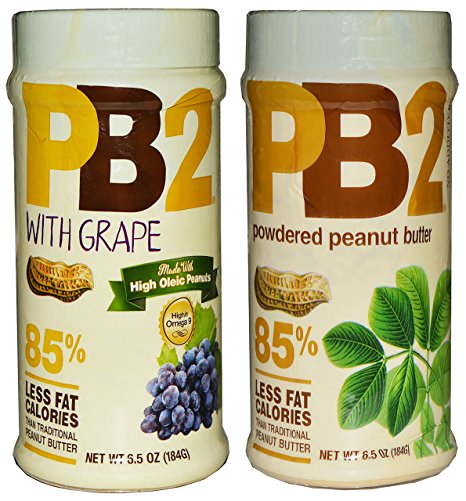 PB2 Powdered Peanut Butter Original and PB2 with Grape (2-Pack, 6.5 oz each) - Snazzy Gourmet