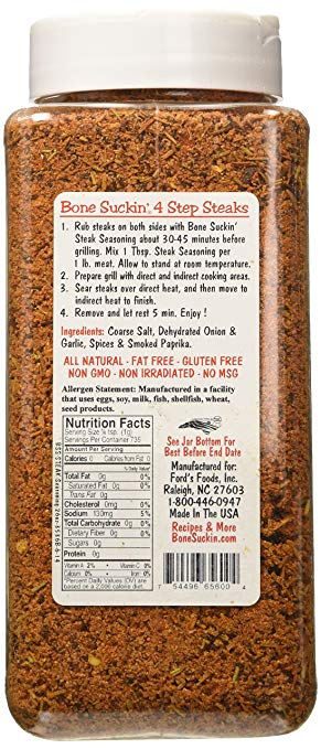 Bone Suckin'® Steak Seasoning & Rub, 26 oz. - Snazzy Gourmet