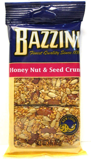 Bazzini Honey Nut & Seed Crunch Bar, 3 oz Bags - Snazzy Gourmet