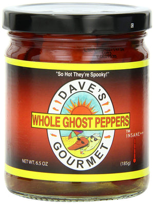 Dave's Gourmet Whole Ghost Peppers, 6.5 oz - Snazzy Gourmet