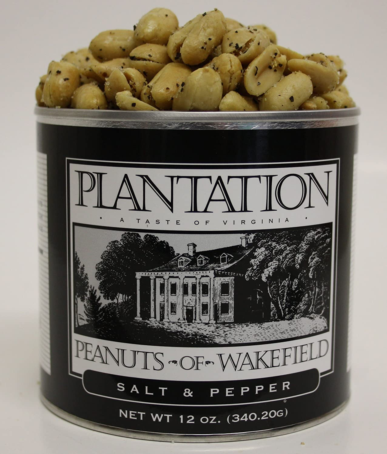 Gourmet Salt & Pepper Peanuts, 12 Ounce Tin