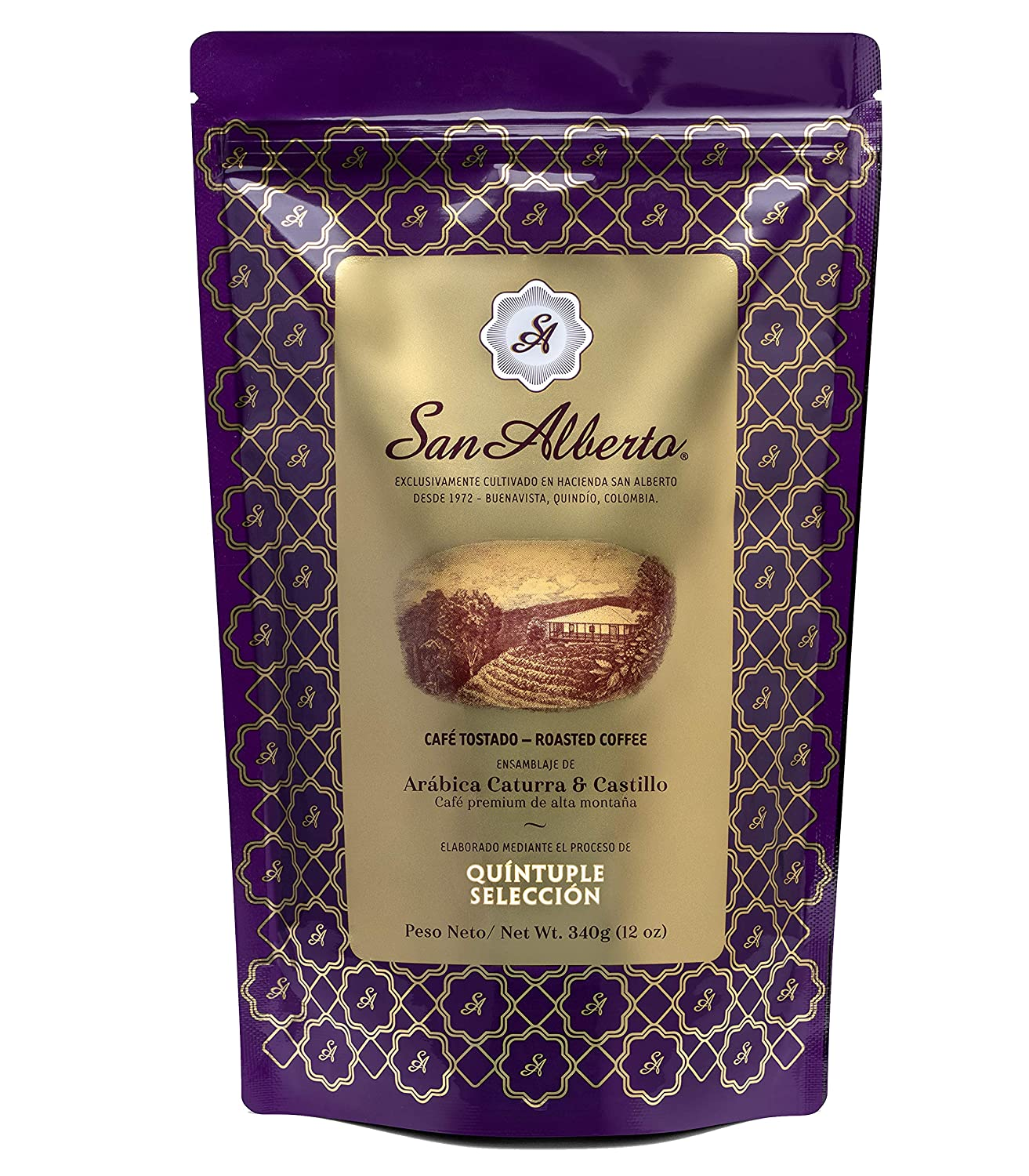 San Alberto Premium Coffee, Most Awarded Single Origin Specialty Colombian Coffee, 12 oz