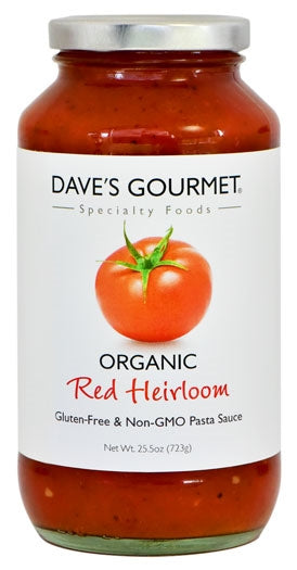 Dave's Gourmet Organic Red Heirloom Pasta Sauce, 25.5 oz - Snazzy Gourmet