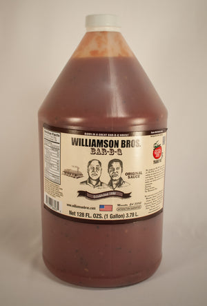 Williamson Bros. Original BBQ Sauce 1 gallon - Snazzy Gourmet