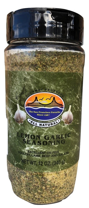 Carl's Gourmet All Natural Lemon Garlic Seasoning and Meat Rub - 12 oz - Snazzy Gourmet
