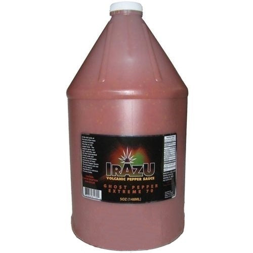 Irazu Volcanic Pepper Sauce - Ghost Pepper Extreme 70, 1 Gallon