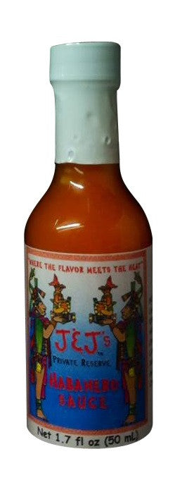 J & J's Private Reserve Habanero Sauce 1.5 oz - Snazzy Gourmet