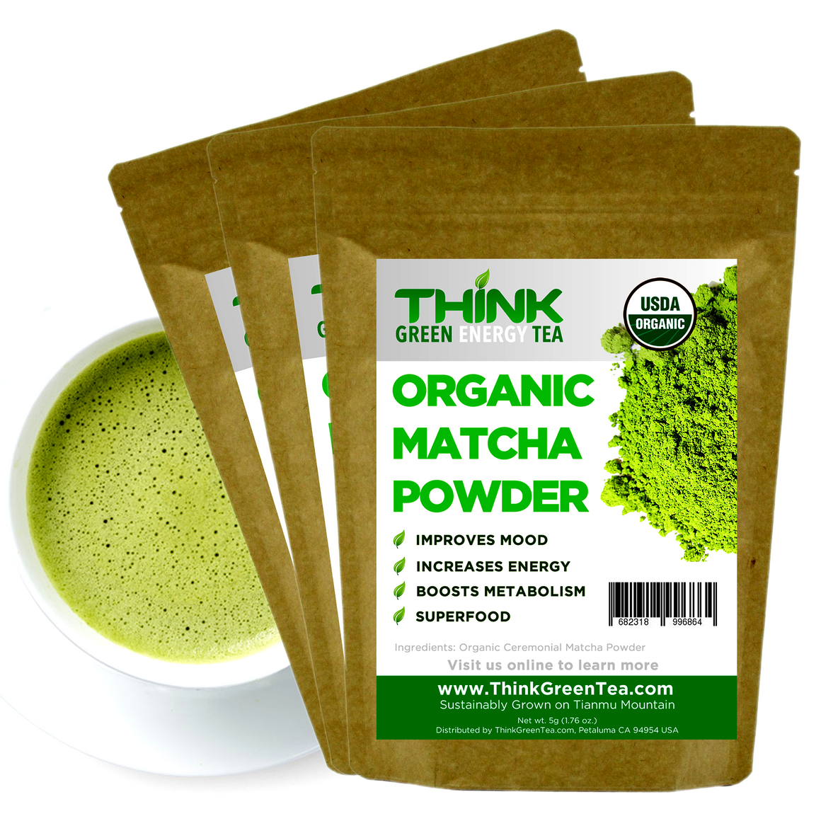 LOVE IT: Think Green Energy Tea Powder 150g (75 servings) - Snazzy Gourmet