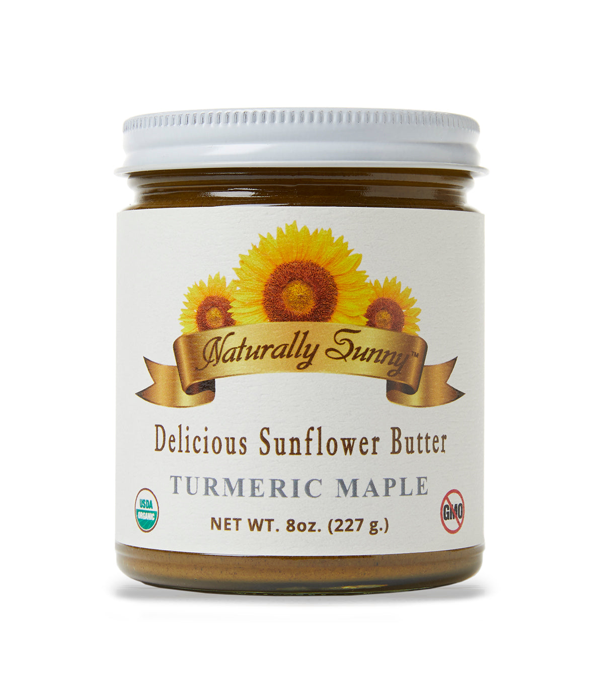 Naturally Sunny Sunflower Butter - Turmeric Maple, 8 Ounce Jar - Snazzy Gourmet