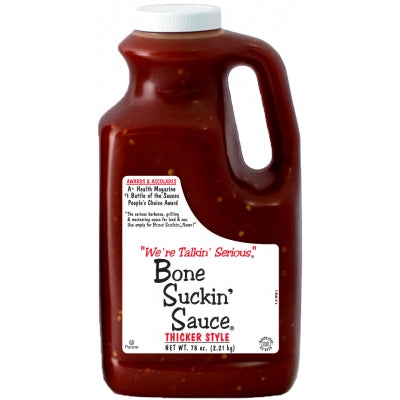 Bone Suckin'® BBQ Sauce, Thicker Style, Regular, 78 oz. - Snazzy Gourmet
