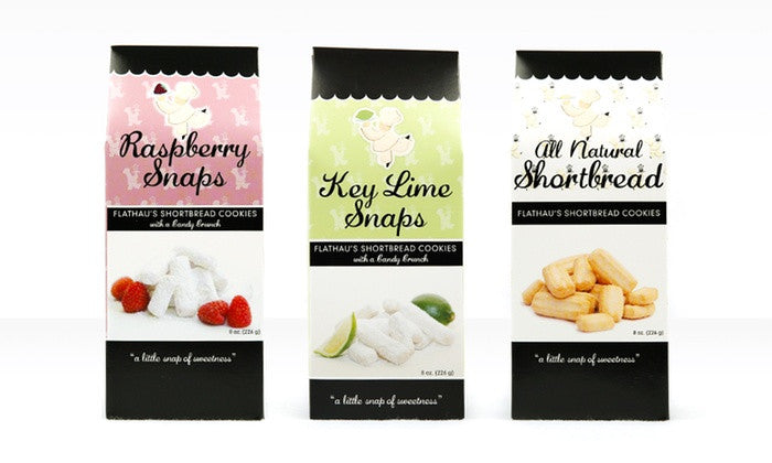 Flathau's Shortbread Cookie Snaps 2-Pack, Choose Your Favorite Flavors! - Snazzy Gourmet