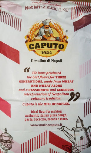 "Italian ""00"" Chef's Flour ideal for Pizza by Antimo Caputo, 1 kg Bag (2.2 lbs) - Snazzy Gourmet"