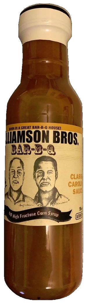 Williamson Bros. Classic Carolina BBQ Sauce 12 oz - Snazzy Gourmet