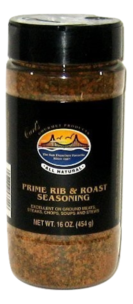 Carl's Gourmet All Natural Prime Rib & Roast Seasoning - 16 oz - Snazzy Gourmet