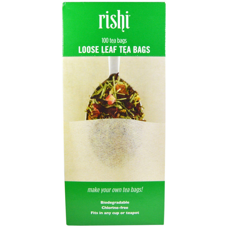 Rishi Tea Loose Leaf Tea Filter Bags - 100-count - Snazzy Gourmet