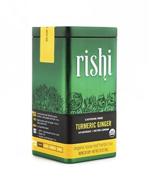 Rishi Tea, Turmeric Ginger, Organic Loose Leaf Herbal Tea, 2.47 oz - Snazzy Gourmet